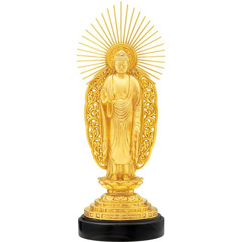 純金仏像 阿弥陀如来像[西] | 高品質 金・プラチナ