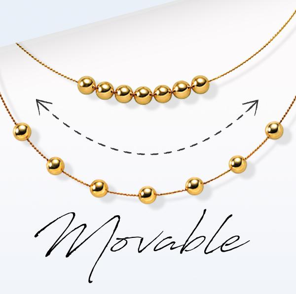 ◇◆◇Movable◇◆◇ファッションに合わせてアレンジ多彩なネックレス■K18イエローゴールド ネックレス ¥53,500(税込)シンプルなボールモチーフが使いやすい、K18イエローゴールドのネックレス。ボールのパーツはすべて動かすことができ、ファッションに合わせてお好みのアレンジをお楽しみいただけます。