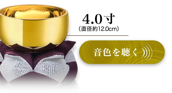□4.0寸(直径約12.1cm)